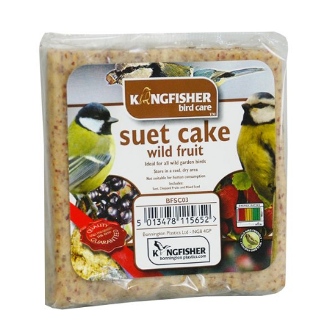 Wild Fruit Suet Cake For Wild Garden Birds Kingfisher Bird Care